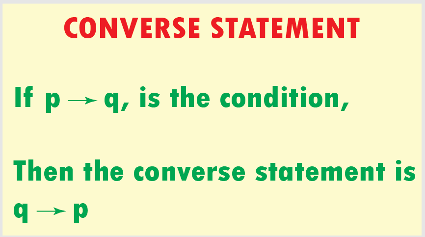Converse Statement